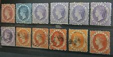 More details for st.lucia - early array of 1860/64 mint & used on stockcard