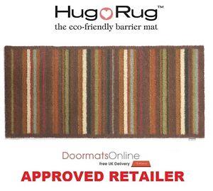 Hug Rug 150x65cm (STRIPE 70) Dirt Trapper Door Mat / Runner Machine Washable