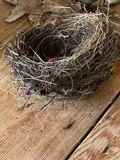 Unusual Genuine Real Abandoned Natural Found Birds Bird Nest Sticks Fishing Line