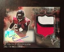 2015 Topps Platinum Tevin Coleman Rookie 3 CLR Jersey Patch Auto FALCONS