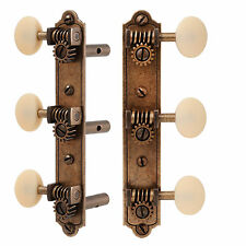 Golden Age Restoration Slotted Peghead Guitar Tuners, Bell-end, Relic brass