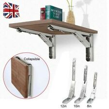 """2x 8/10/12"""" Folding Brackets Flip Down Table Brackets Heavy Duty Folding Shelves"""