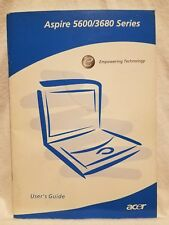 Pre-owned ~ Aspire 5600/3680 Series User's Guide (Acer, Part No. MU.ACT0F.001)