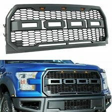 For 15-17 Ford F150 Raptor Style Front Hood Grille Conversion W/ LED Grill F-150