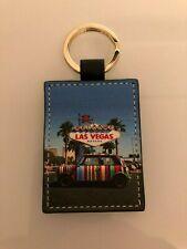 New Genuine Paul Smith Black Leather Mini/Las Vegas Keyring Key Ring RRP £70 C