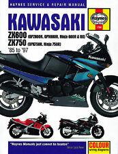Haynes Manual Kawasaki GPZ600R & GPX600/750R (85 - 97) owner workshop (HM1780)