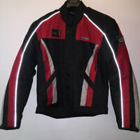 RK 1616 RED BLACK WHITE TEXTILE MOTORCYCLE MOTORBIKE SCOOTER JACKET CLEARANCE