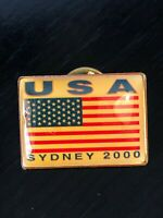 Vintage Collectible USA Olympics Sydney 2000 Colorful Metal Pinback Hat Pin