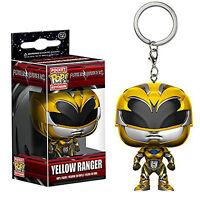 Funko Power Rangers Movie Pocket POP Yellow Ranger Vinyl Figure Keychain NEW Toy