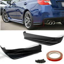 Fit 15-18 Impreza WRX STI 2pc Aero Style Rear Bumper Lip Cap Apron Spats Add On