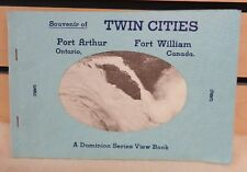 Vintage Souvenir of TWIN CITIES Port Arthur ONT Fort Wm. CAN View BOOK (TH1347)