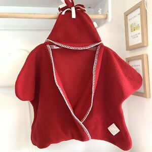 Tuppence And Crumble Baby Star Wrap, Size Small, Red Unisex Winter Warm 0-4 m