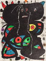 Joan Miró, original Lithographie, signiert und nummeriert. Miro.