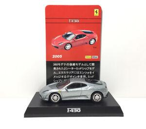 Kyosho 1/64 Ferrari F430 Diecast Car Model Silver/grey