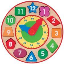 Melissa & Doug 18593 Shape Sorting Clock