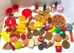 Huge 60+ Vintage Play Food Lot Kentucky Fried Chicken Dairy Queen Pizza Donuts