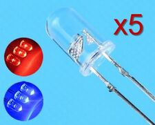 5x LED diode Rouge/Bleu clignotante 5 mm / 5x LED automatic RAPID flash Red/Blue
