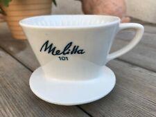 Melitta Porzellan Filter 101 weiß mit blauer Schrift 4 Loch