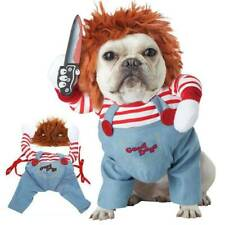 Deadly Doll Halloween Dog Costumes Funny Pet Clothes Cosplay Clothing Dress Up