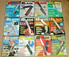 12 Blade Magazines Knives Complete Year 2001 Vol. 28 Issue 1-12