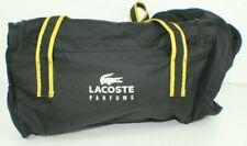 Lacoste Parfums Perfume Black Gym duffle bag travel locker room yellow