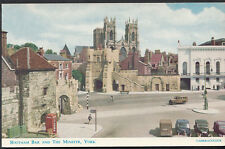 Yorkshire Postcard - Bootham Bar and The Minster, York   RS3417