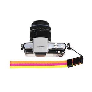 Yellow/Orange Knitted Grosgrain Camera Wrist Strap for Sony/Canon/Nikon Cameras