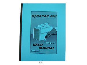 Thermal Dynamics Model 4xi Dynapak Plasma Cutter User Manual  *955