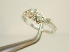 2014 Diamond Wedding Band Approx. 0.92ct TW Solid 10k White 100% Gold Size 7 1/4