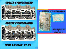 PAIR FORD EXPLORER MOUNTAINEER 4.0 SOHC 97-06 V6 CYLINDER HEADS BOLTS & GASKETS