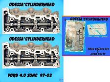 2 FORD EXPLORER MOUNTAINEER 4.0 SOHC 97-06 V6 CYLINDER HEADS BOLT&GASKET NO CORE