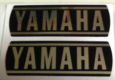CARCASA De Motor De Yamaha YB100 Restauración Calcomanías X 2