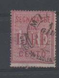 1884 ITALY REGNO SEGNATASSE 100L USATO B/447