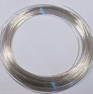 50 cm de fil 0,8 mm  en argent sterling 925