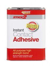 STICK 2 ALL PURPOSE CONTACT ADHESIVE EVERBUILD GLUE WOOD PLASTIC RUBBER 5L