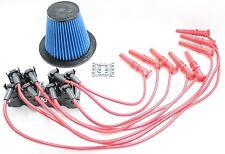 8.5mm Spark Plug Wires EDIS Coil Packs Lifetime Air Filter 97-99 Ford 4.6L V8