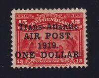 Newfoundland Sc #C2 (1919) $1 on 15c Alcock & Brown Airmail Set Mint VF