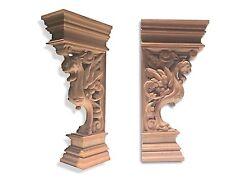 "Griffon. Hand Carved Decorative Hardwood Corbel  15"" x 7-3/8"""