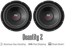 Qty 2 Pyle Car Subwoofer 1000 Watt 4 Ohm 10-Inch Bass Audio Speaker PLPW10D Coil