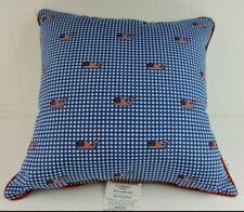 "Vineyard Vines Target Flag Whale Gingham Design 20""x20"" Home Decor Throw Pillow"