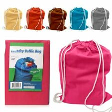 1 Large Laundry Duffle Bag Durable Wash Dirty Clothes Hamper Reusable Tote New
