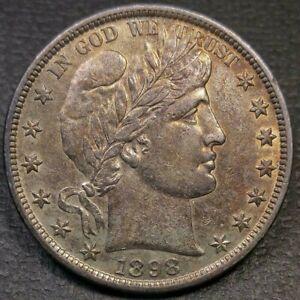 1898 Barber Half Dollar AU