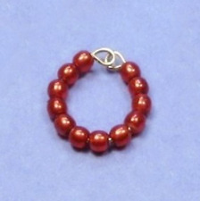 """Dreamz RED Pearl BRACELET made for 11"""" Barbie Doll Jewelry"""