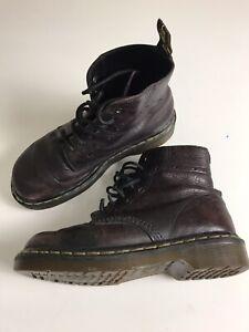 DR MARTENS Aubergine 7 Hole Boots (Size UK 4)