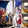 Weihnachten Weihnachtsmann Duschvorhang Badewannenvorhang Wasserdicht mit Haken
