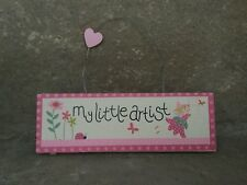 SALE Gisela Graham Fairy pink wooden My Little Artist painting display sign