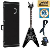 Dean Eric Peterson Skull Graphics Guitar w/ Case, FREE Strings/Strap/Tuner/Cloth