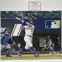 Autographed/Signed CODY BELLINGER 2020 World Series 16x20 Photo Fanatics COA