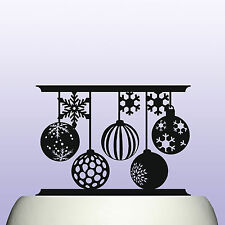 Acrylic Christmas Balls and Snowflakes Keepsake Cake Topper Decoration