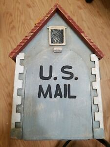 Cottage dollhouse english country porch mailbox custom wooden mail